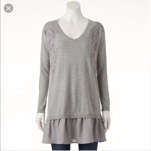 LC Tunic Length Sweater Layered